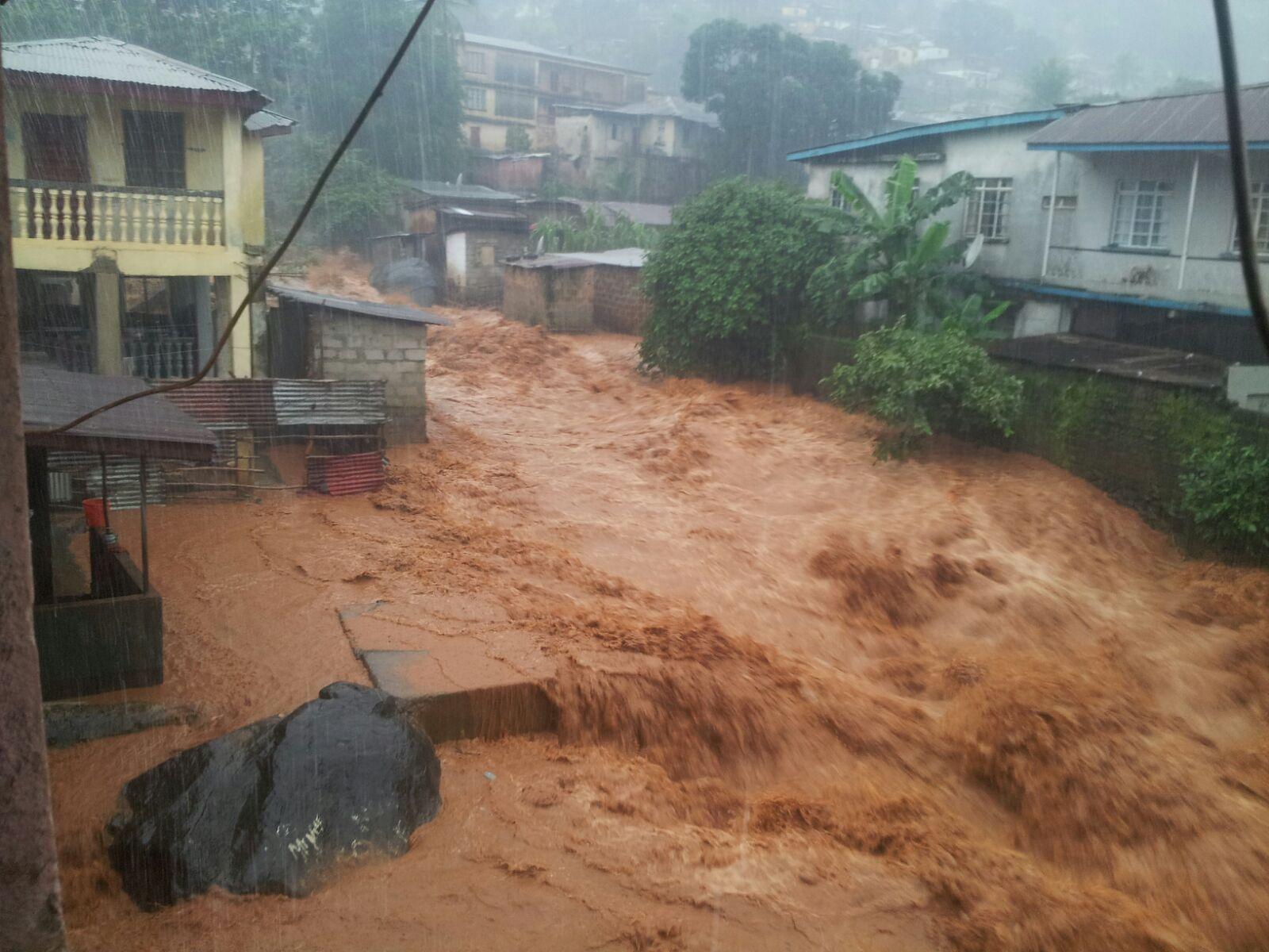 Floods in Freetown, Sierra Leone