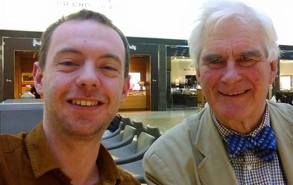 Resurge Director Martyn Webster and Volunteer Eddie Carberry on their way to Sierra Leone