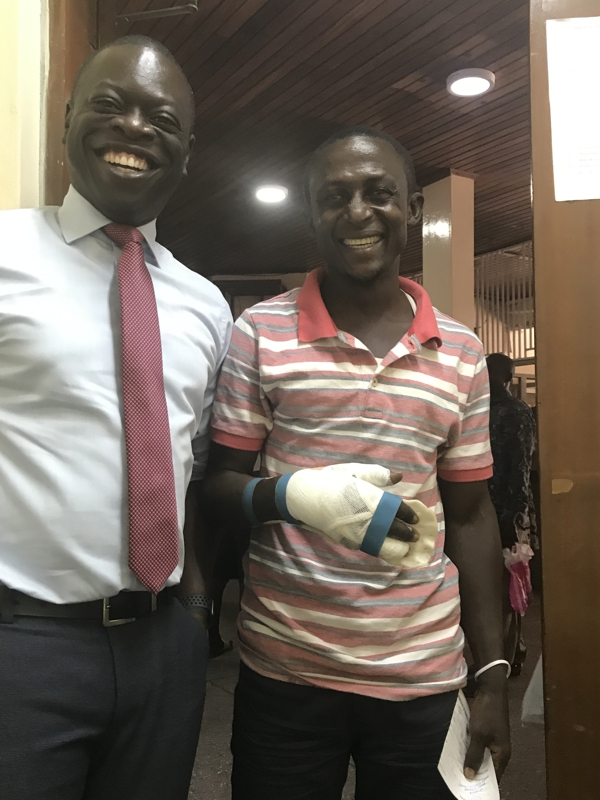 Successful hand replant surgery at Korle-Bu Hospital, Accra, Ghana