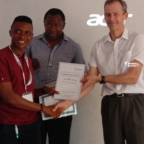 Essential Burns Care and Hand Trauma training in Sierra Leone